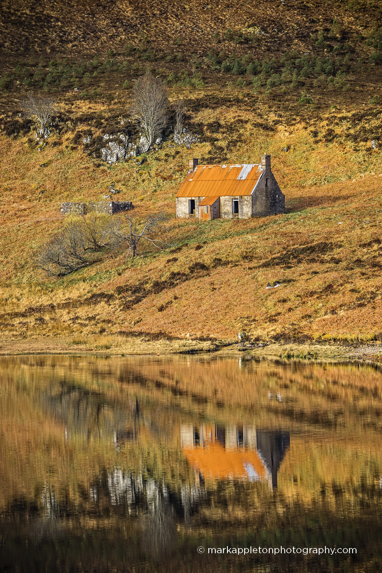Wee croft house in autumn