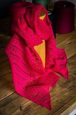 'With Love' lace scarf