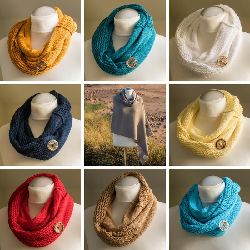 Seashore infinity scarf