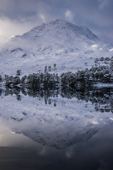 Almost mirror reflections of Sgurr Dubh, Loch Clair
