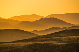 Just after sunrise looking towards the Fishfield mountains.