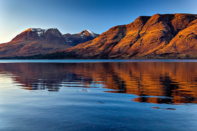 Beinn Alligin and Lithach catching the late afternoon light.