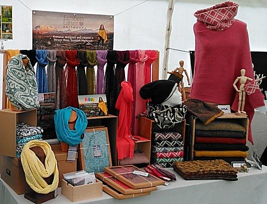 Elizabeth Larsen Knitwear at Inverness Highland Games