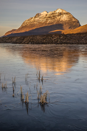 Liathach in the early morning sunlight, Loch Clair