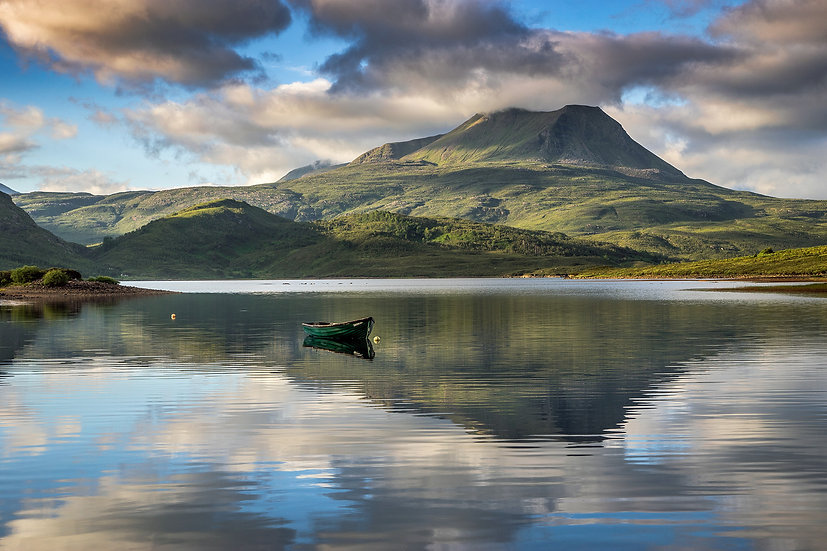 Early morning light on Baosbheinn and Loch Bad an Sgalaig.
