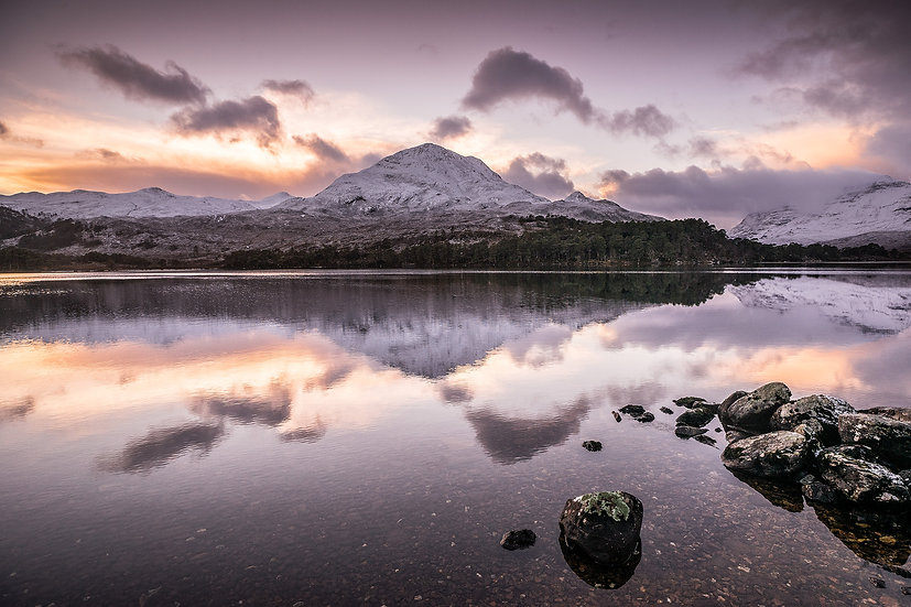Winter's reflection on Loch Clair