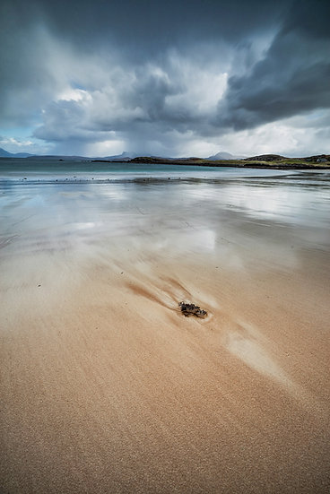 Moody skies over Mellon Udrigle beach.