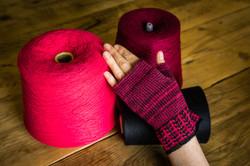 'With Love' fingerless gloves
