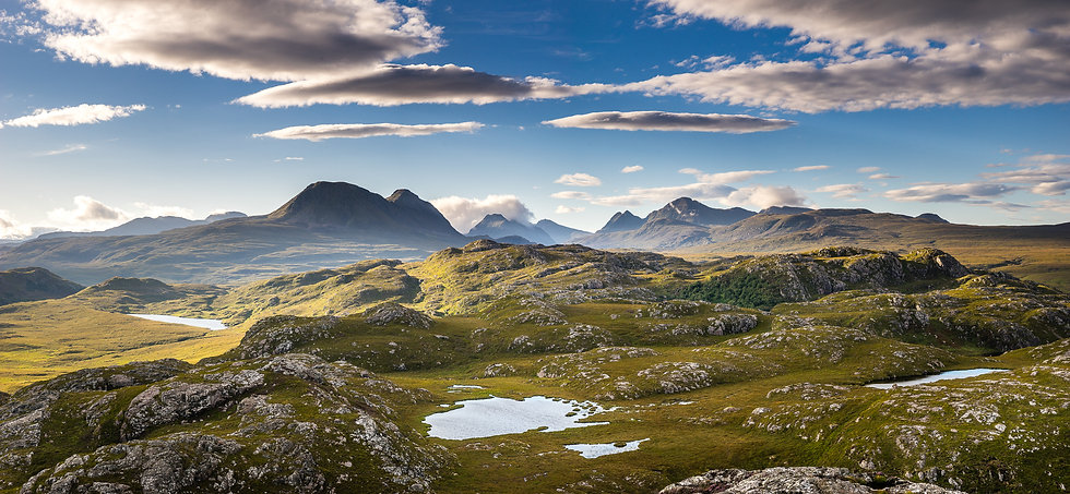 Early morning light over the Torridon mountains