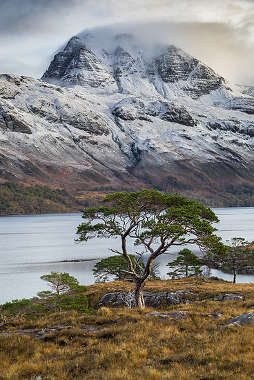 Snow shower over Slioch