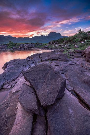 Colourful sunrise over Slioch