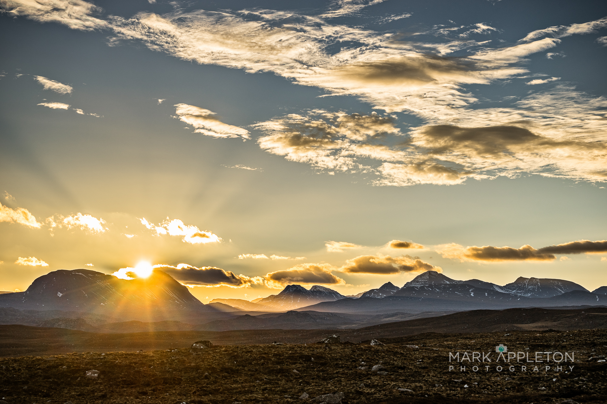 Sunrise over the Torridon mountains