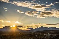 Sunrise over the Torridon mountains