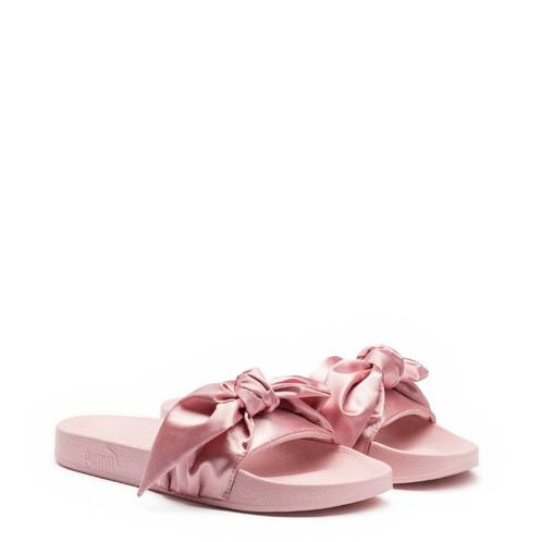 new product 8b26a dc97a PUMA Fenty By RIHANNA Satin Bow Slide Pink