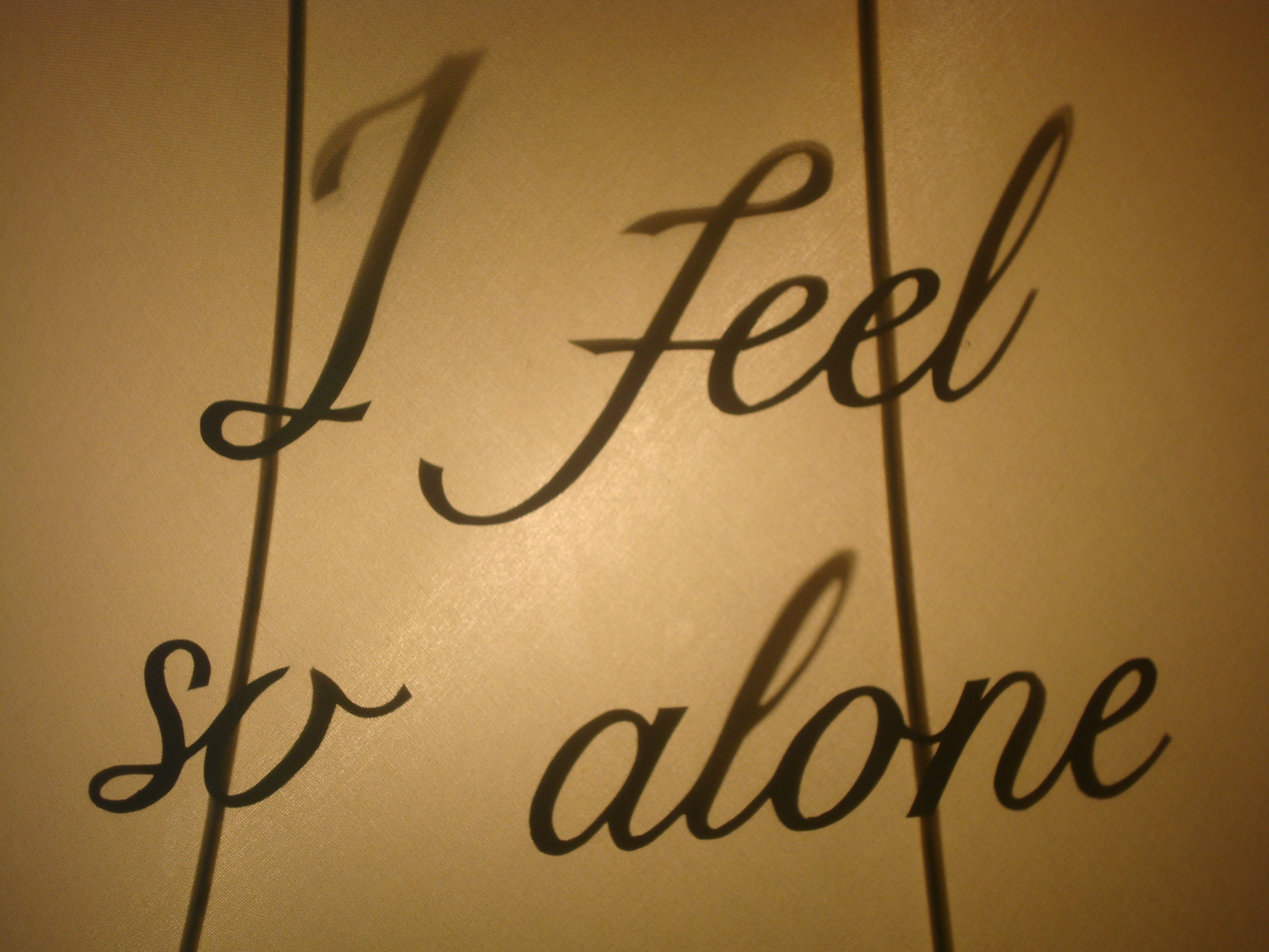 I Feel So Alone (detail)