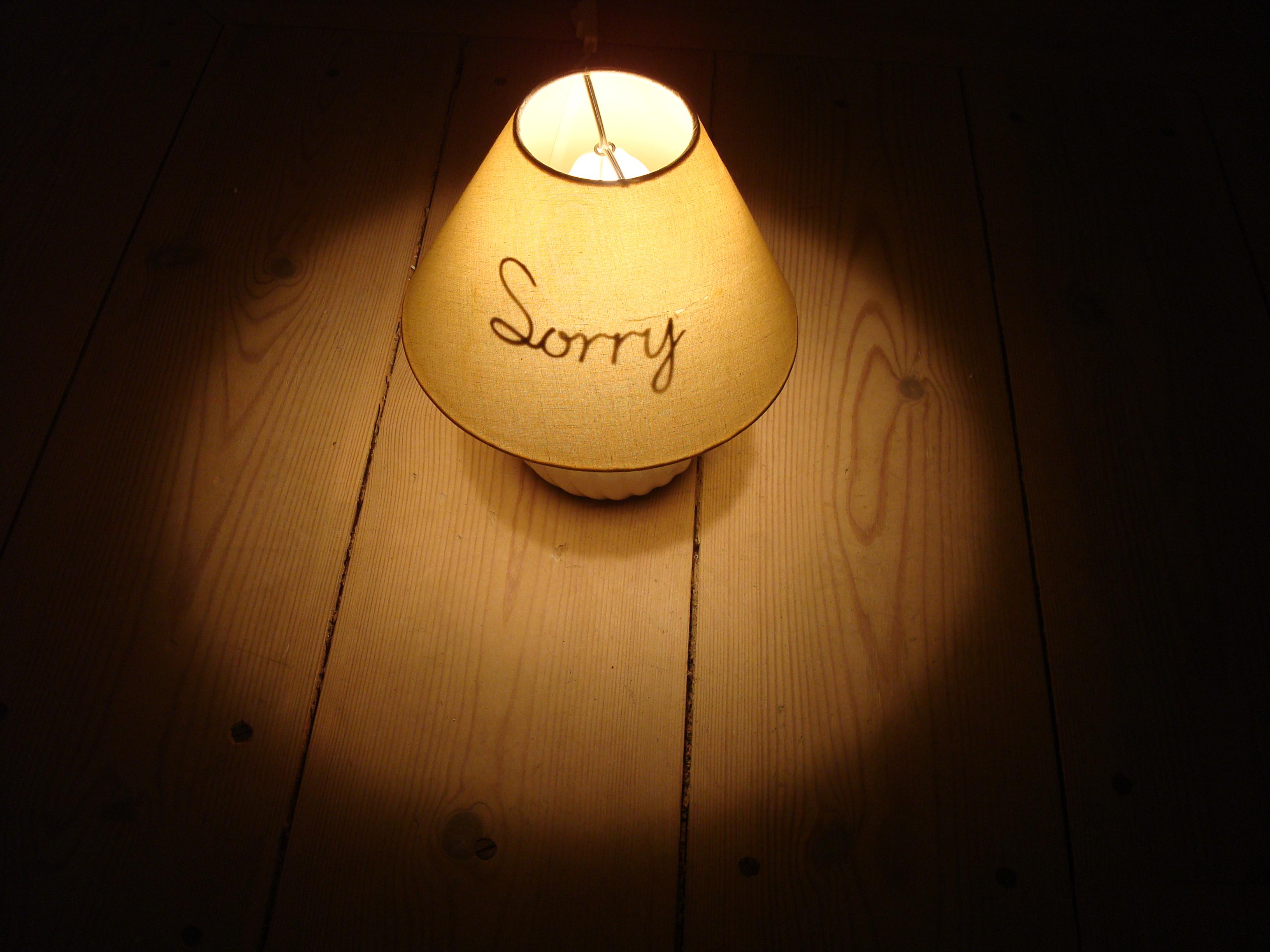 Sorry (lamp)