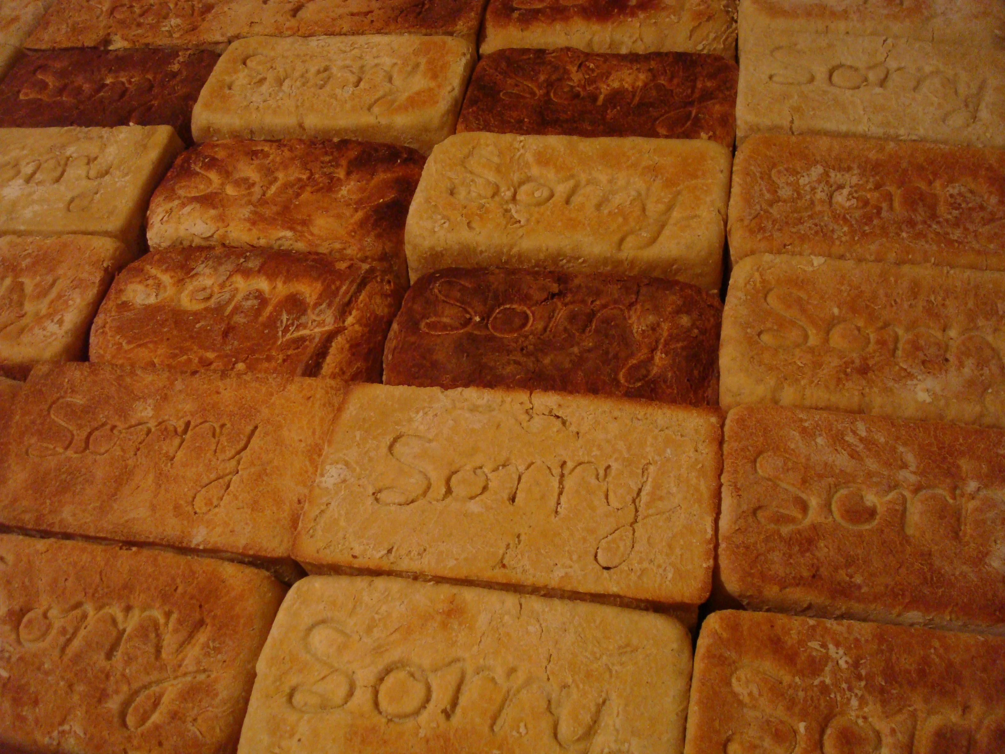 Sorry (bread) (detail)