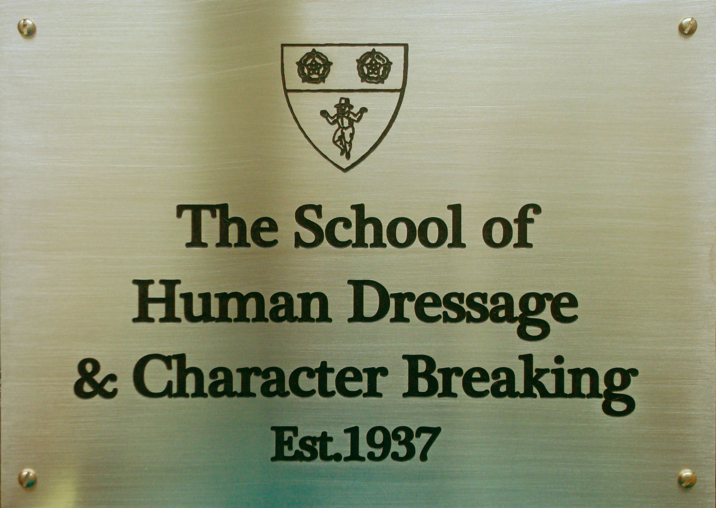 The School of Human Dressage and Character Breaking (detail)