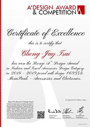 Cheng Jay Tsai A'Design Award MonoPunk