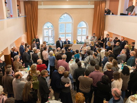 Alternativer Neujahrsempfang im Casino-Saal des Merian-Hotels Oppenheim, 14. Januar 2018