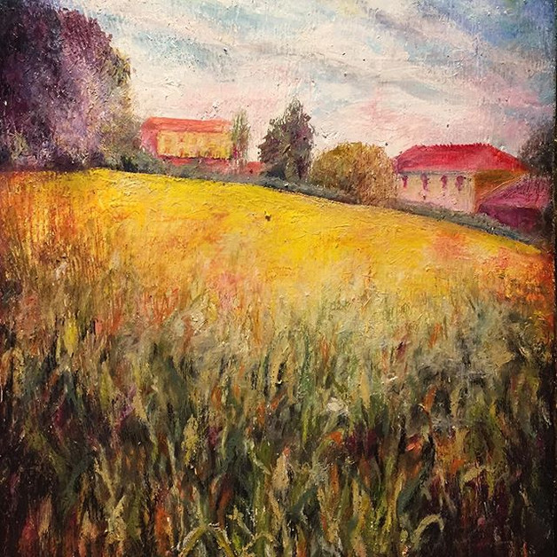 The Beautiful Italy._Oil. Oil Pastel. Wo