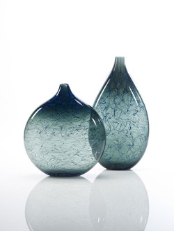 Set of grey Marea vases