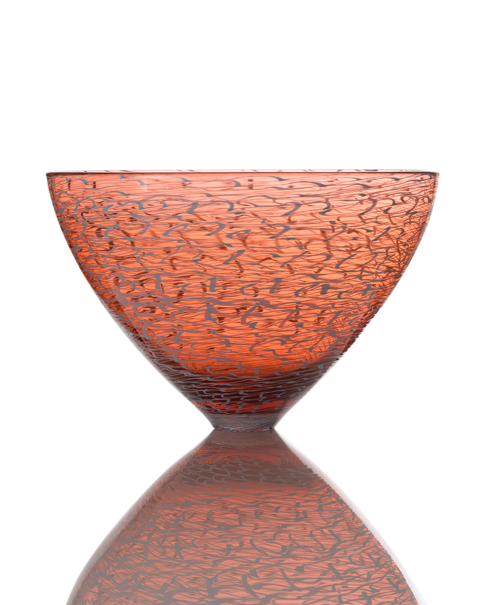 Marea Medium Bowl - Cerise_Light Blue