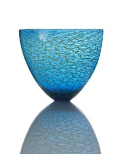 Marea Medium Bowl - Aquamarine Blue_Gold