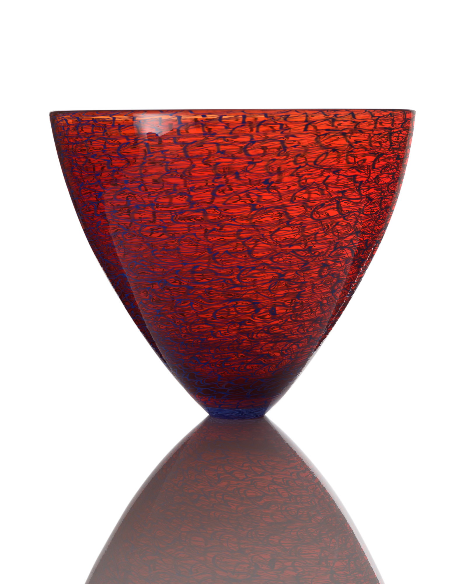 Marea Large Bowl - Cherry Red_Blue