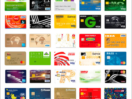 Listado de tarjetas revolving.