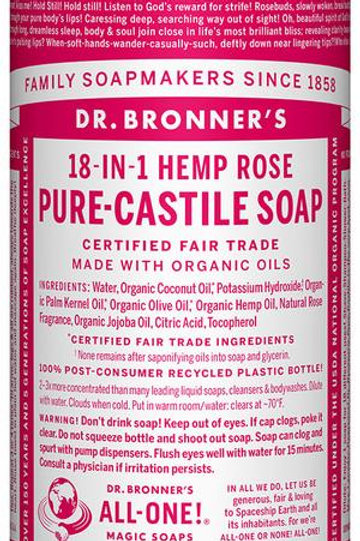 Dr. Bronner's Hemp Rose Liquid Soap
