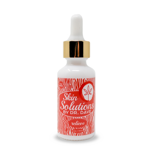 Bottle of doctor Dave's anti inflammation Formula CBD skin oil