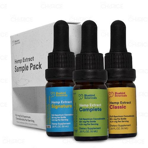 Bluebird Botanicals/ CBD Oil Sample Pack
