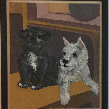 Posted by Dennis Buonagura, Jack and Otto painited by Marie Roberts