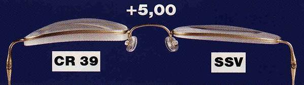 Dickenunterschied Brillengläser
