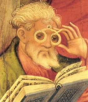 Frühe Zeit der Brille