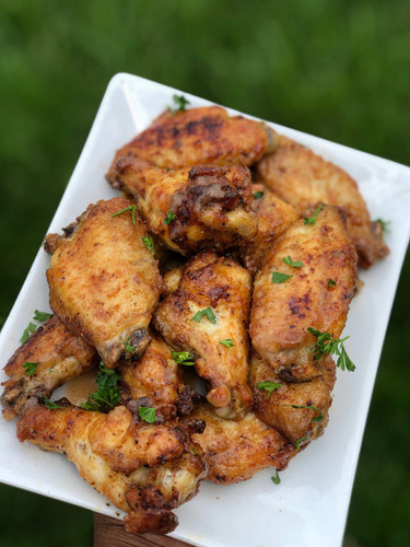 Glazed Double Baked Apple Butter Wings