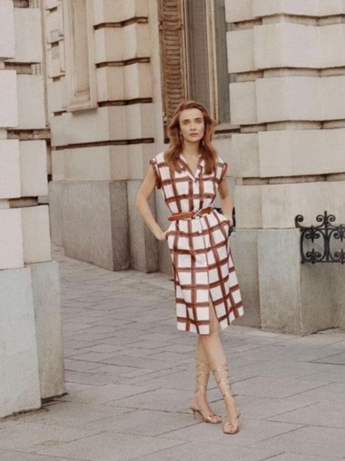Kizeo geruite jurk Xandres
