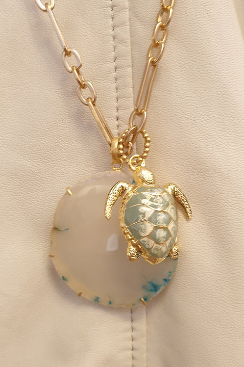 Azul & Turtle necklace n°13