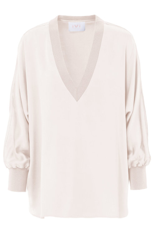 Solid silk blouse IVI