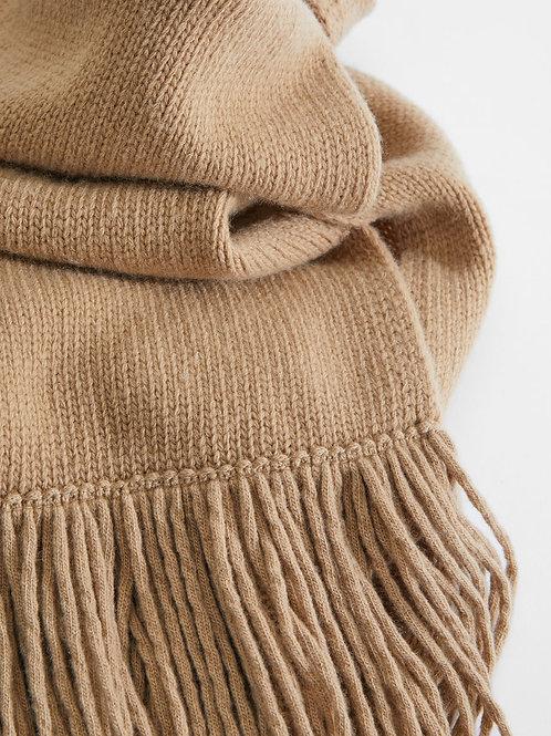 Rechthoekige sjaal met franje MM