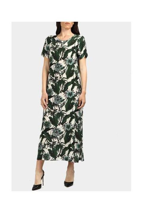 Groene zijden jurk MM