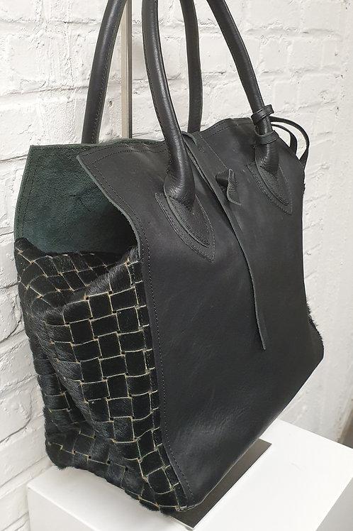 Medium Bag square black Let&Her