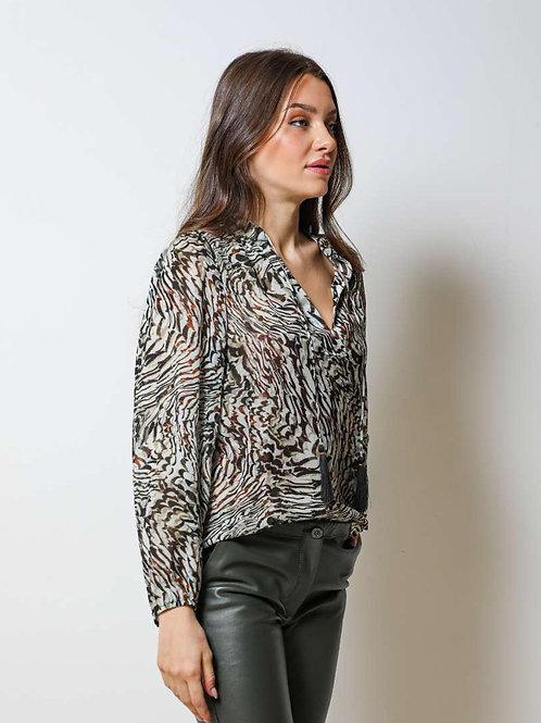 Kaki Chiffon blouse DC