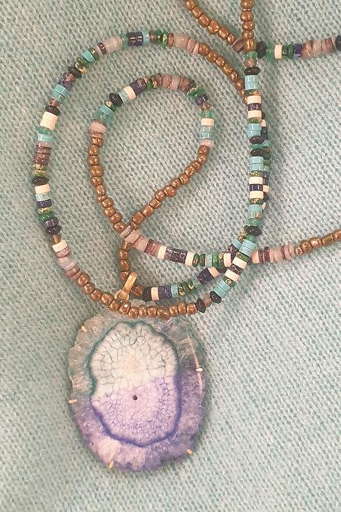 Bi-color necklace n°3