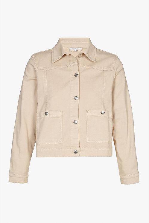 Ambri beige jeansjas Xandres