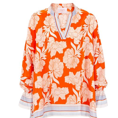 Peony silk blouse IVI