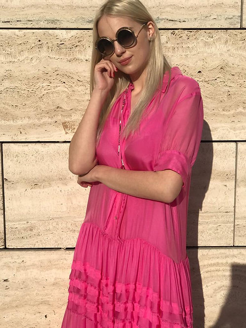 Pink Chiffon dress A&B