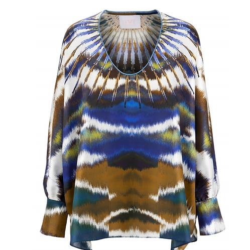 Batik silk blouse IVI
