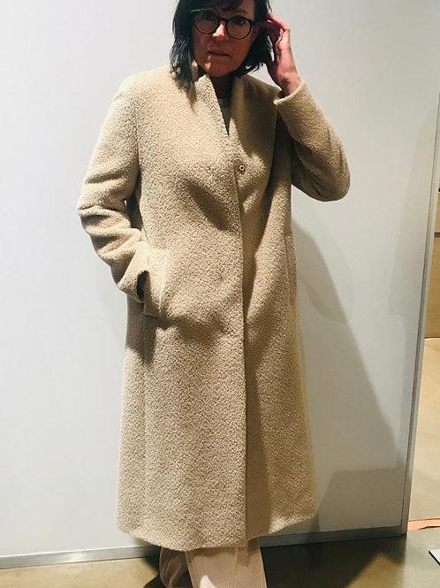 Lange beige mantel Cinzia Rocca
